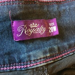Royalty for Me Jeans - Royalty for Me Jegging Plus Size 20W Jean Blue